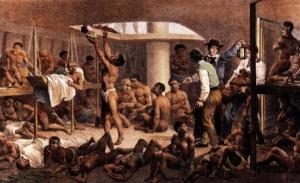 Escravos em Navio Negreiro